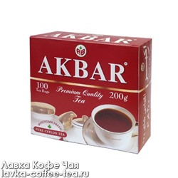 чай черный Akbar Mountain Fresh в пакетиках с/я 2 г.*100 пак.